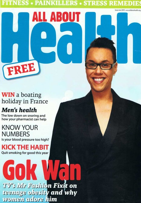 Gok Wan on All About Health magazine cover