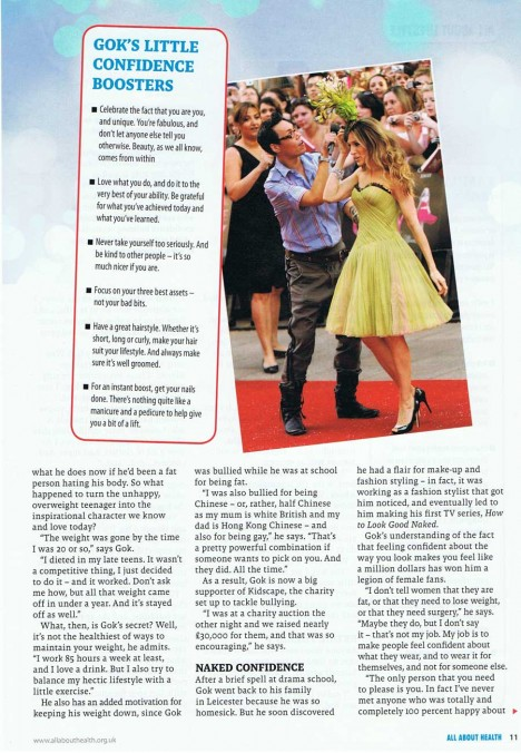 Gok Wan interview in All About Health - page 2