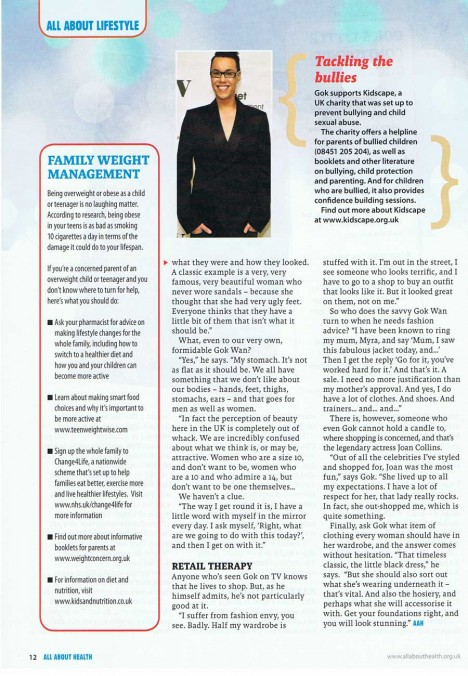 Gok Wan interview in All About Health - page 3