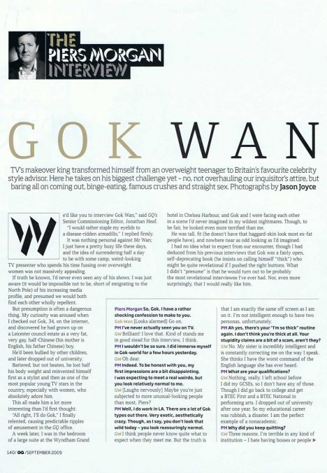 Gok Wan interview with GQ - page 1