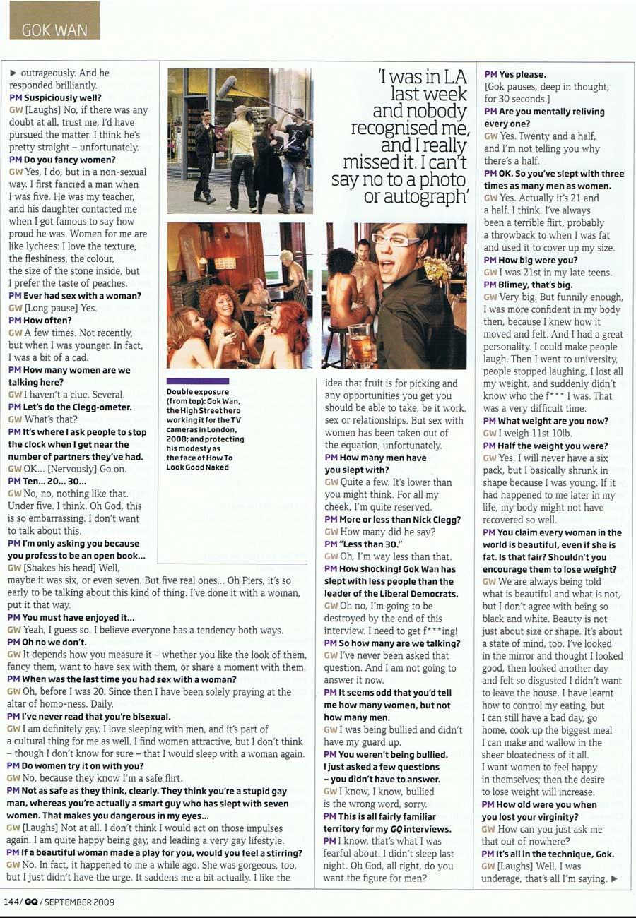 Gq Interview September 2009 Gokwan Com