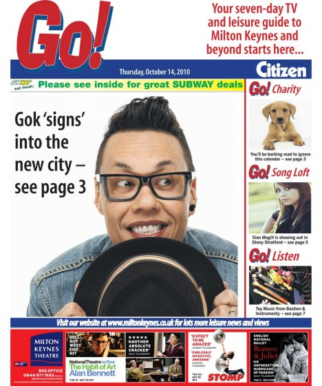 Gok Wan in MK Go! magazine