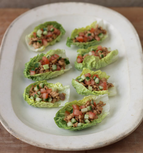 Fragrant chinese chicken wrapped in lettuce leaves gok cooks fragrant chicken forumfinder Choice Image