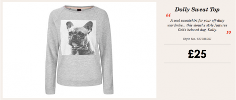 Dolly Sweatshirt, Gok for Tu range