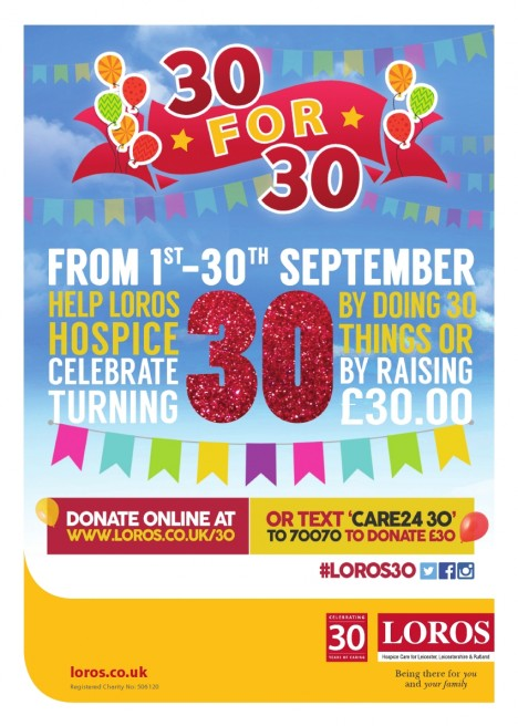 LOROS Hospice 30 for 30 campaign