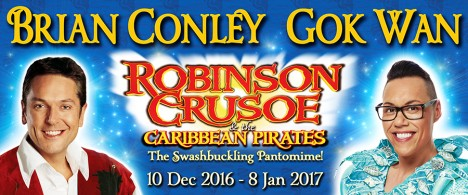 Robinson Crusoe panto at Southend Cliffs Pavilion, Christmans 2016